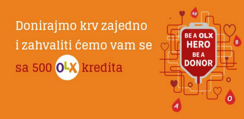 Akcija Zavoda za transfuzijsku medicinu FBiH i oglasnika OLX.ba