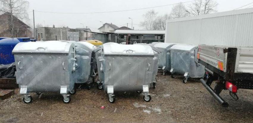 Metalni kontejneri za otpad MSE 1100 - Isporuka sa lagera cijena 580,00 KM