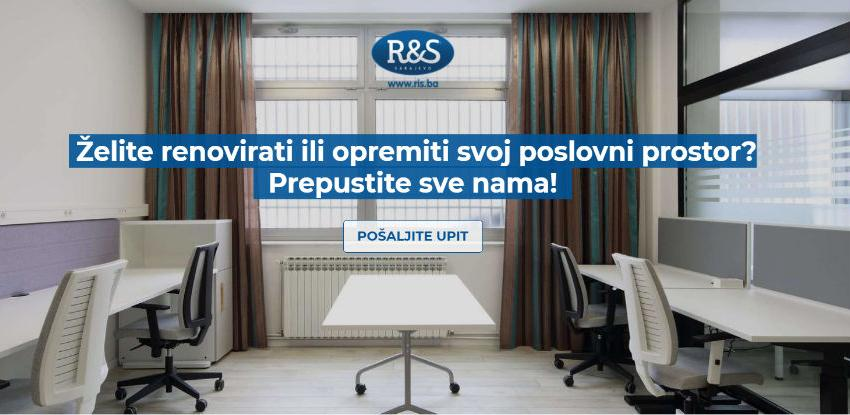 R&S d.o.o. Sarajevo vrši kompletna projektna opremanja radnih prostora
