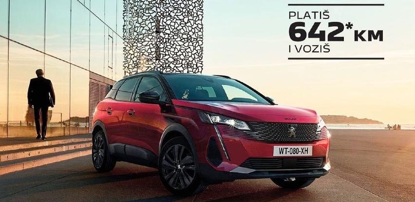 Platiš 642 KM voziš novi SUV Peugeot 3008!