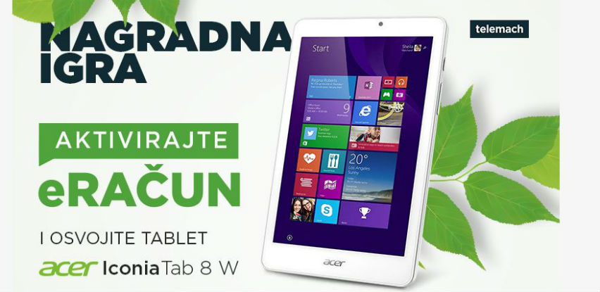 Aktivirajte E-račun i osvojite TABLET Acer Iconia Tab 8W
