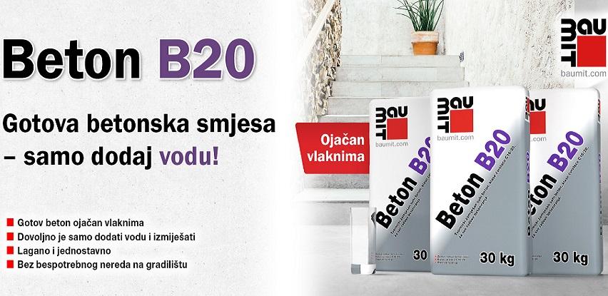 Baumit Beton B20: Fabrički zamiješan beton – samo dodaj vodu!