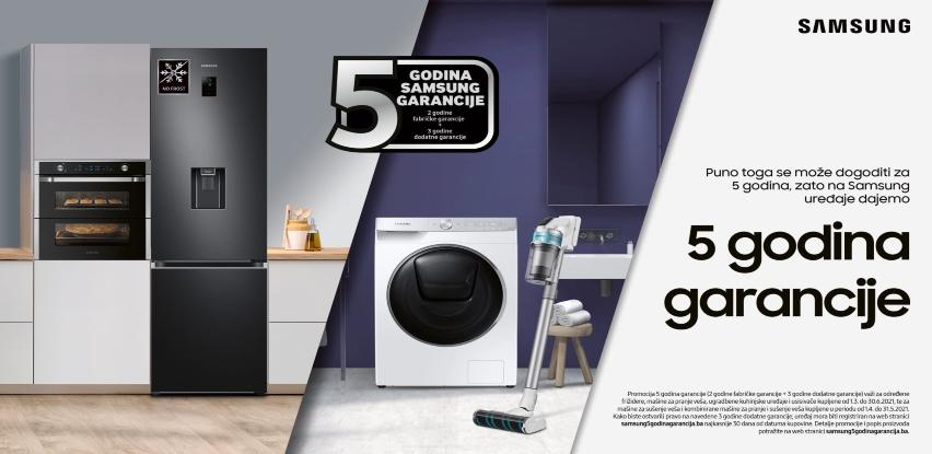 Kupovinom Samsung bijele tehnike u Domod-u očekuje vas pet godina garancije