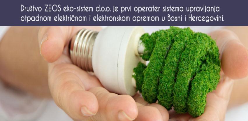 ZEOS eko-sistem je prvi operater upravljanja otpadnom EE opremom u BiH