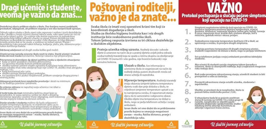 Plakati, leci i brošure INZ-a za sigurniji početak školske godine