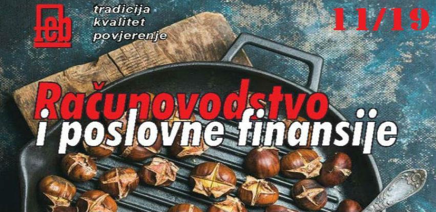 """Izašao je novi broj časopisa """"Računovodstvo i poslovne finansije"""" broj 11/19"""