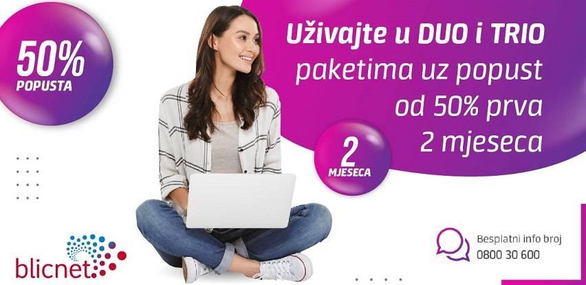 Akcijska ponuda u Blicnetu: 50 odsto popusta za DUO i TRIO pakete usluga