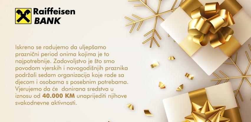 Raiffeisen banka donacijama uljepšala praznike za sedam organizacija