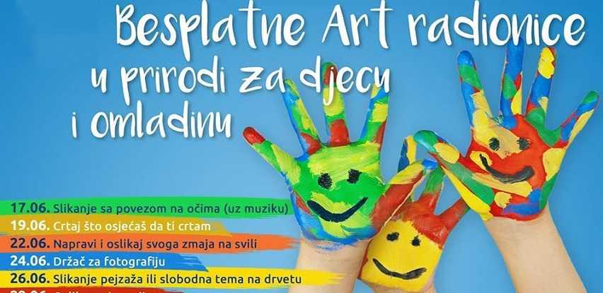 Besplatne Art radionice u prirodi za djecu i omladinu