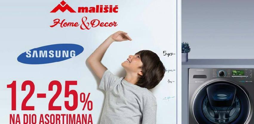 Akcija 12-25 % na Samsung dio asortimana u Mališić Home&Decor Međugorje