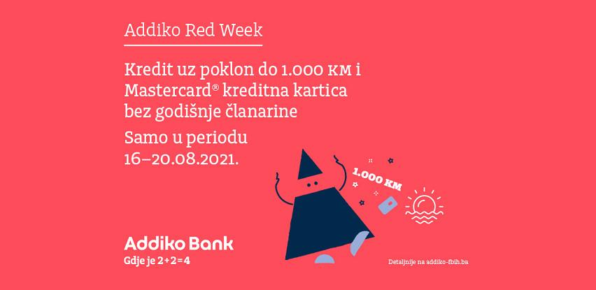Ostvarite dupli poklon uz ljetno izdanje posebne Addiko Red Week ponude