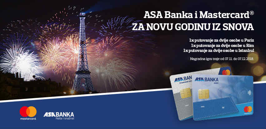 ASA Banka i Mastercard vas vode na novogodišnje putovanje iz snova