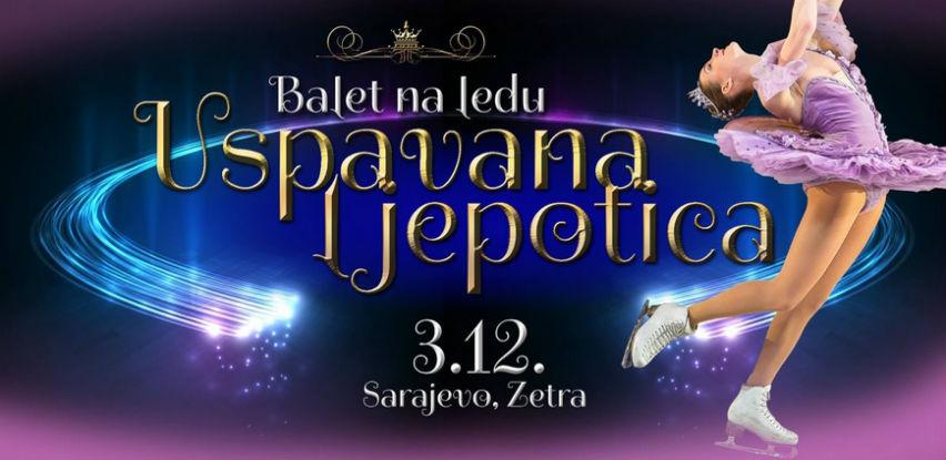 """Balet na ledu """"Uspavana ljepotica"""" u sarajevskoj Zetri"""
