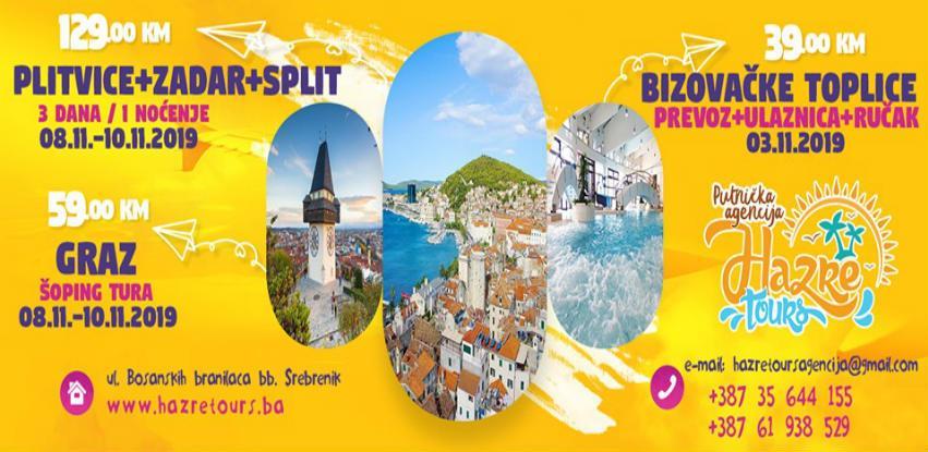 Putujte sa Hazre Tours: Plitvička jezera - Zadar - Split 08.11-10.11.