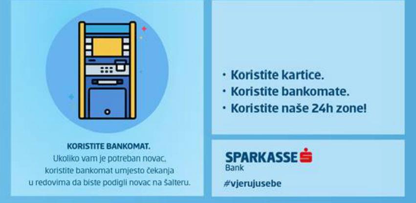 Sparkasse bankomatska mreža - Opcija beskontaktnog prihvata kartice