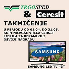 Trgošped i Ceresit takmičenje - koristi Ceresit i osvoji Samsung TV!