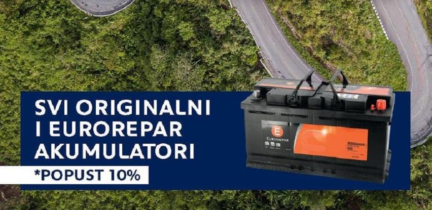 Svi originalni kao i Eurorepar akumulatori uz popust od 10%