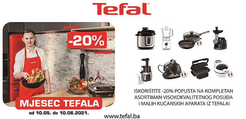 Mjesec Tefala, -20% popusta na kompletan Tefal asortiman!