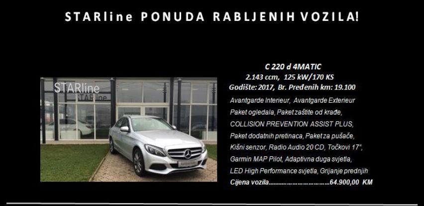 STARline ponuda rabljenih vozila