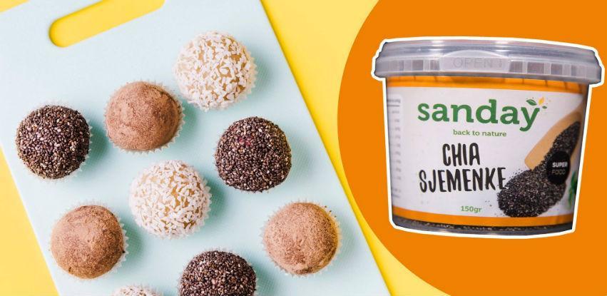 Napravite energetske kuglice sa Sanday chia sjemenkama
