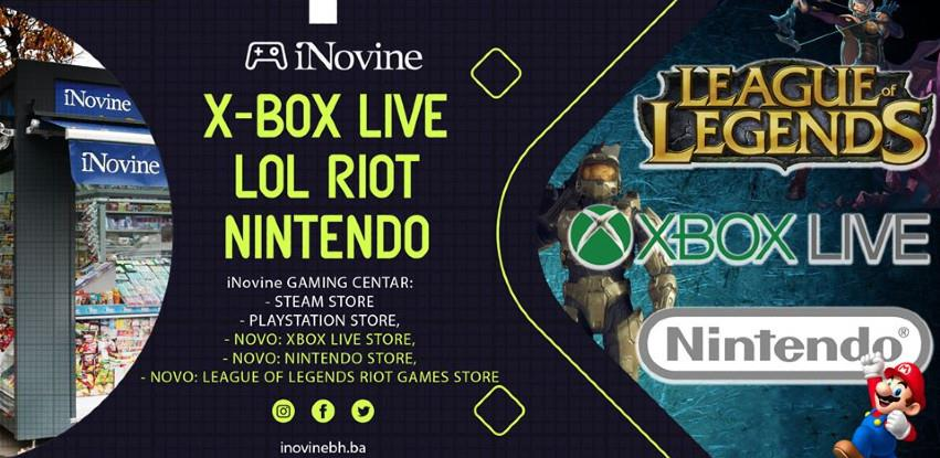iNovine BH: XBOX live, Nintendo i League of legends riot bon dopuna