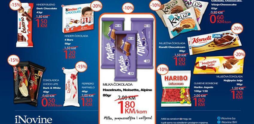Slatka ponuda na kioscima iNovina BH