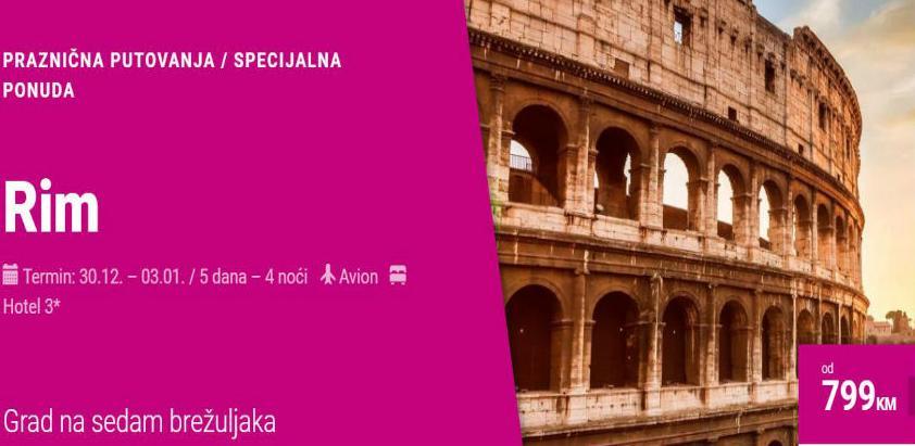 Nova godina u Rimu sa Relax Tours-om – super cijena za rane rezervacije