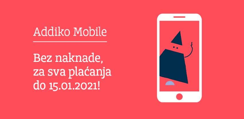 Sve transakcije mobilnog bankarstva Addiko Bank bez plaćanja naknade