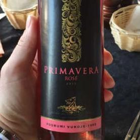 Iz palate vina Podruma Vukoje izdvajamo Primavera rosé Vukoje®