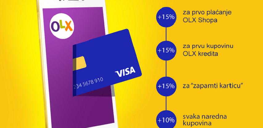 Visa i OLX – plati karticom i zaradi bonus OLX kredite