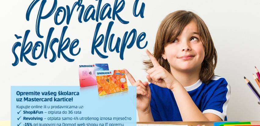 Pripreme za novu školsku godinu mogu početi uz Sparkasse Mastercard kartice