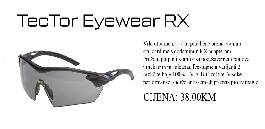 TecTor Eyewear RX izrađene od polikarbonata koji je otporan na udare