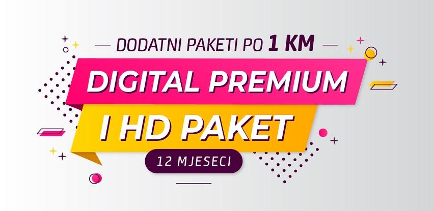 Gledajte Digital Premium i HD TV paket za svega 2 KM mjesečno