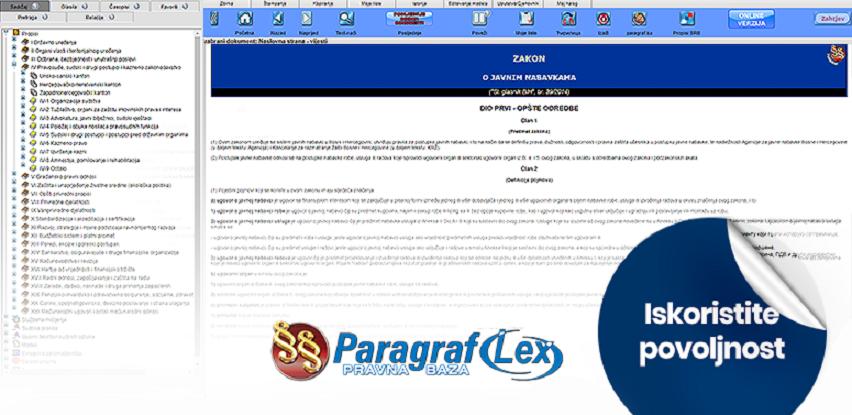 Pravna baza Paragraf Lex 1+1 BESPLATNO