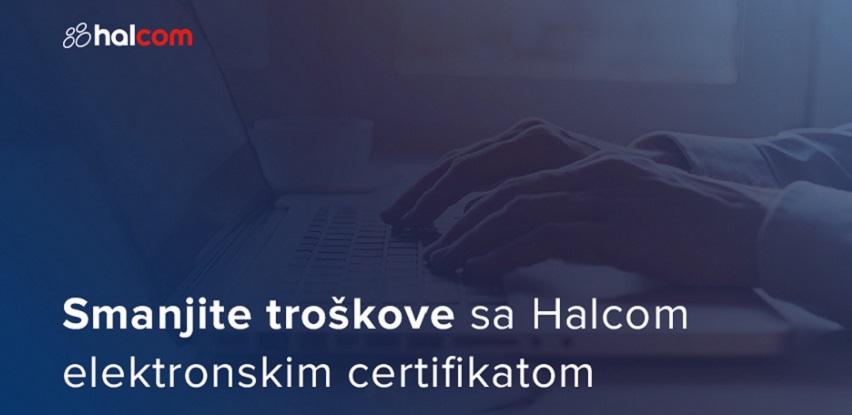 Smanjite troškove sa Halcom elektronskim certifikatom