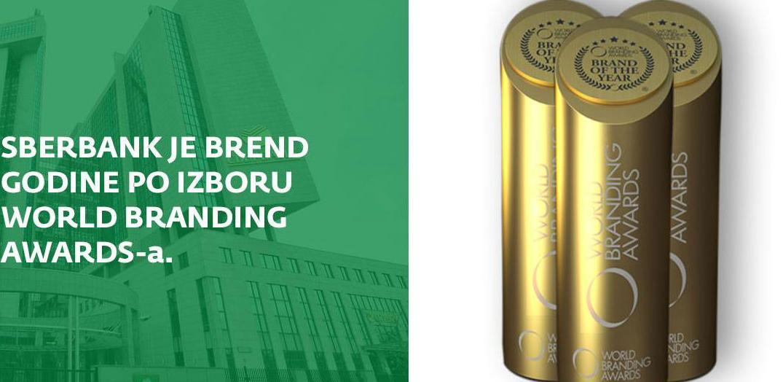 Sberbank je proglašena za Brend godine