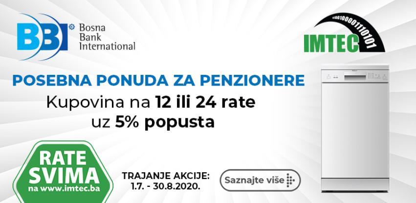 IMTEC I BBI BANKA: Rate za penzionere uz 5% popusta