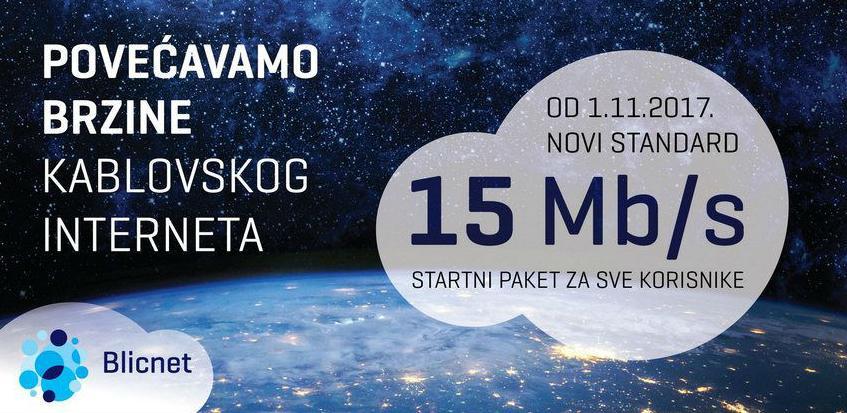 Blicnet: Još veće Internet brzine svim korisnicima kablovskog Interneta