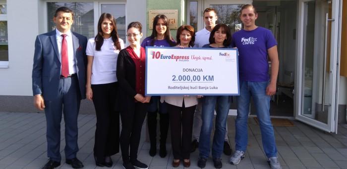 EuroExpress uz podršku FedEx-a uručila donaciju Roditeljskoj kući