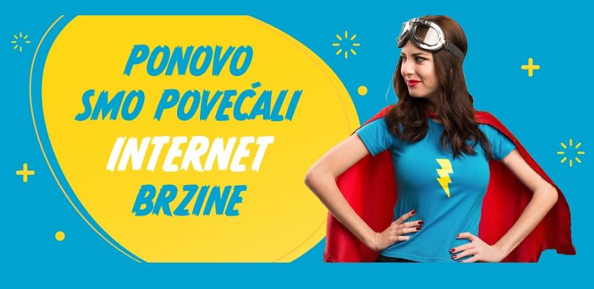 NOVO: Veće brzine interneta