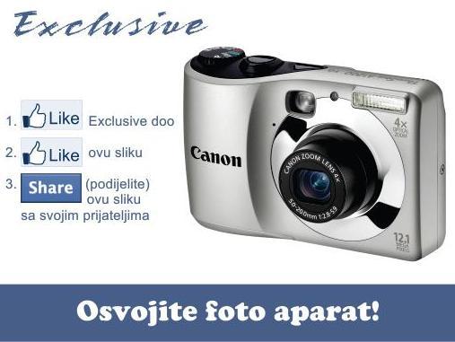 Exclusive doo: Osvojite digitalni foto aparat Canon A1200