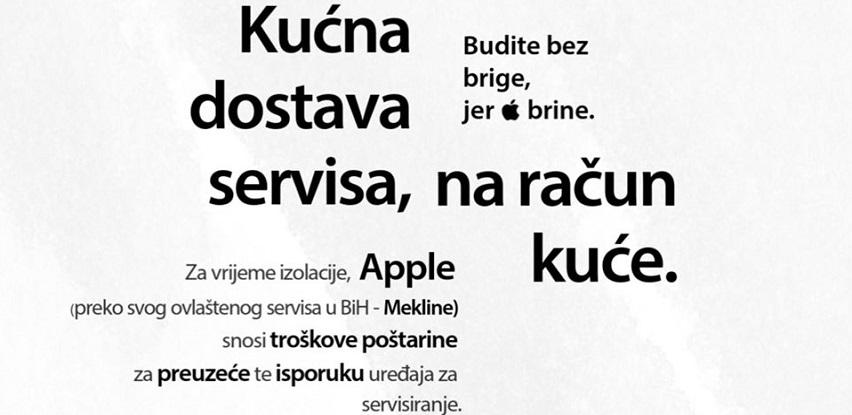 Mekline snosni troškove vaših pošiljke Apple uređaja kojima treba servis