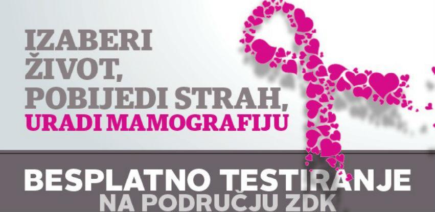 Besplatni mamografski pregledi u deset zdravstvenih ustanova u ZDK