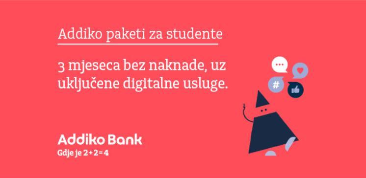 Studentski život je jednostavniji uz Addiko pakete za studente