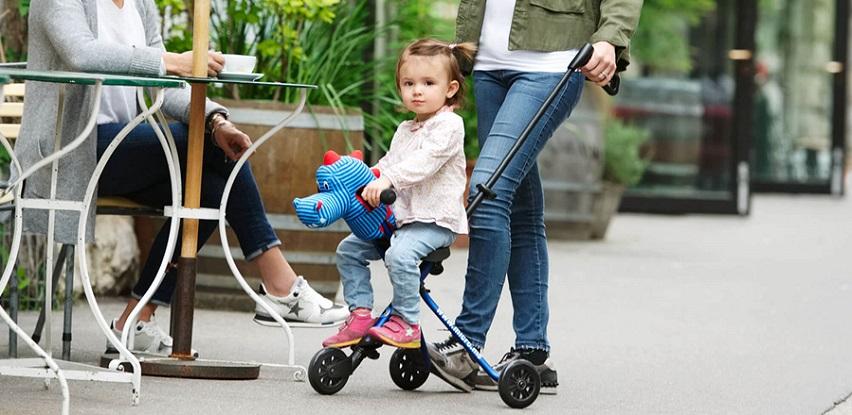Micro Trike genijalno dizajniran način kako šetati po gradu sa djetetom!