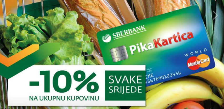 Svake srijede -10% popusta pri kupovini sa Sberbankom