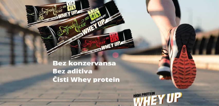 Whey Up energetske i proteinske pločice su zdrava zamjena za slatkiše
