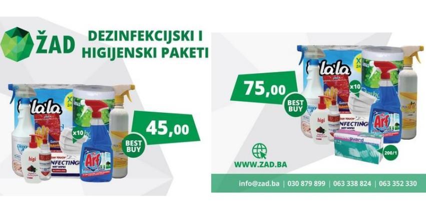 Dezinfekcijski/Higijenski paketi u ponudu ŽAD Store