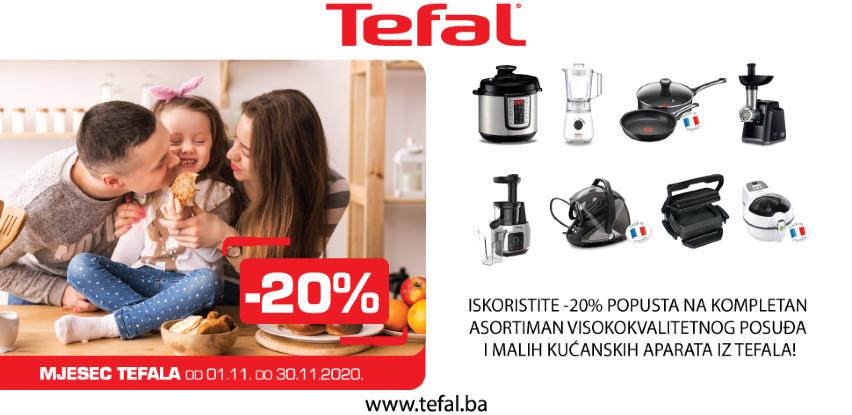 Mjesec Tefala -20% popusta na kompletan Tefal asortiman!