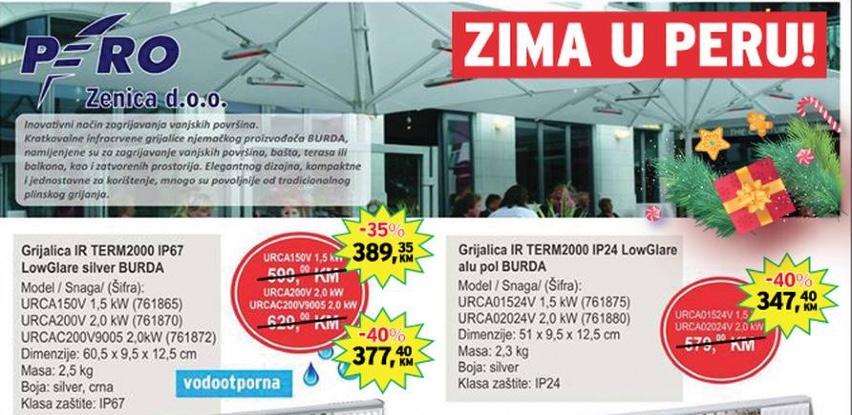 Akcijska ponuda grijalica BURDA u Peru!